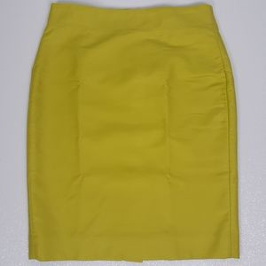 J.CREW No.2 Pencil Skirt Lime Green  Size 2